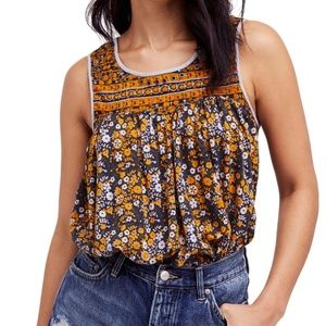 FREE PEOPLE // Lucky Coin Linen Blend Tank